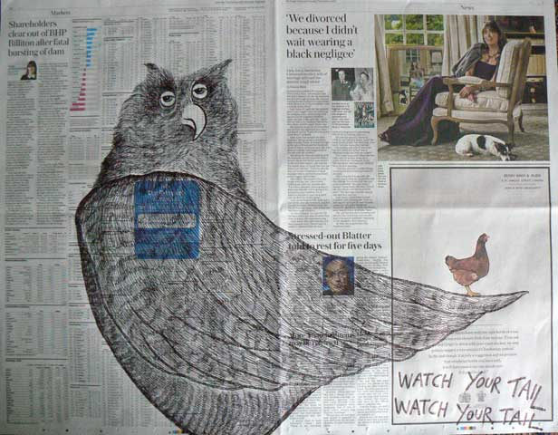 Watch your Tail newspaper drawings by Ronald Rae