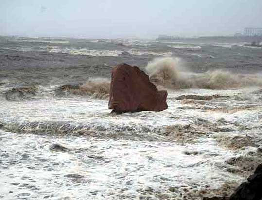 Cramond Fish in Storm
