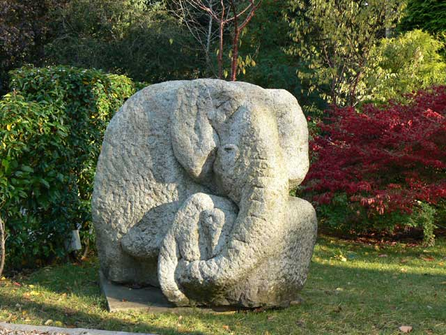 God is Elephant sculpture by Ronald Rae