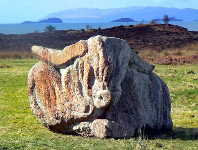Highland Cow sculpture by Ronald Rae