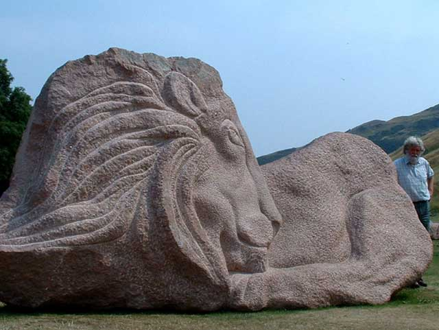 Lion of Scotland - a sculpture by Ronald Rae