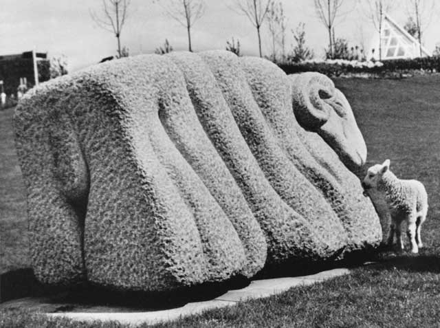Sheep - a sculpture by Ronald Rae